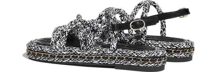 image 3 - Sandales - Corde - Noir & blanc