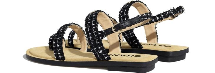 image 3 - Sandals - Tweed - Black & White