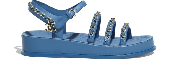 image 1 - Sandals - Calfskin - Blue