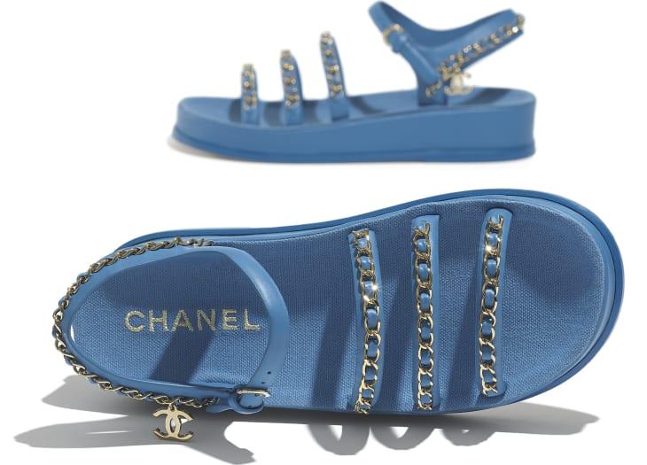 image 4 - Sandals - Calfskin - Blue