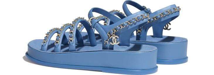 image 3 - Sandals - Calfskin - Blue