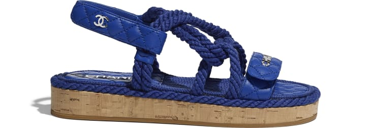 image 1 - Sandals - Cord & Lambskin - Blue