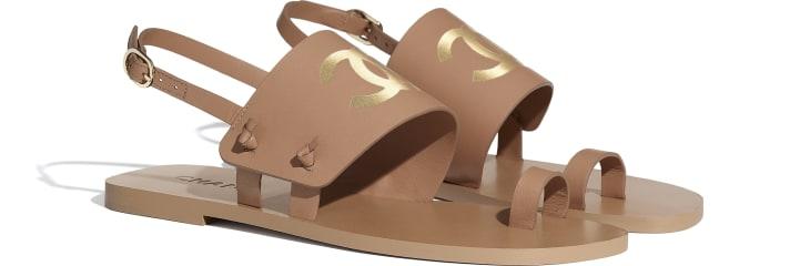 image 2 - Sandals - Goatskin - Brown