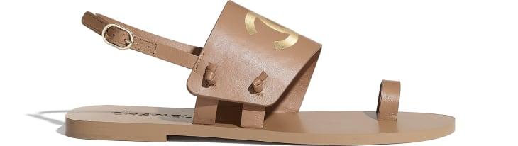 image 1 - Sandals - Goatskin - Brown