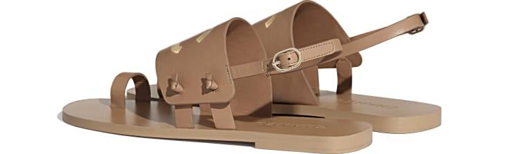 image 3 - Sandals - Goatskin - Brown