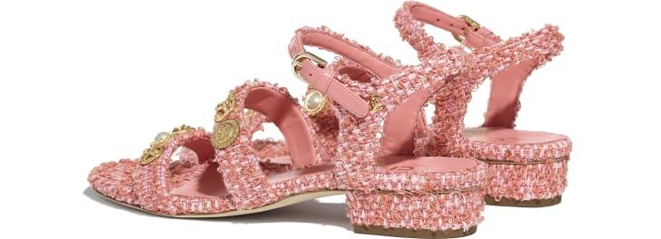 image 3 - Sandálias - Cotton Tweed & Jewelry - Coral & Rosa