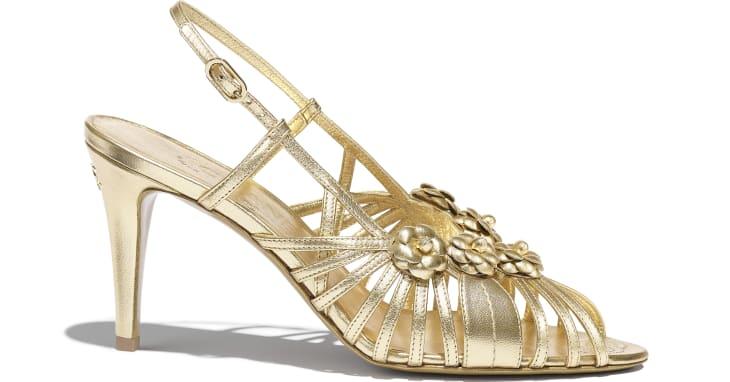 image 1 - Sandals - Laminated Lambskin - Gold