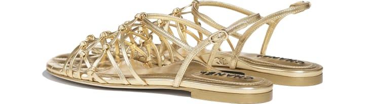 image 3 - Sandals - Laminated Lambskin - Gold