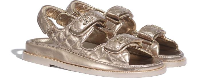 image 2 - Sandals - Iridescent Lambskin - Light Bronze