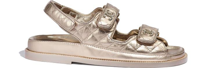 image 1 - Sandals - Iridescent Lambskin - Light Bronze