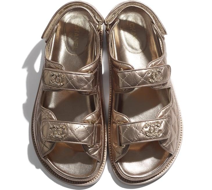 image 4 - Sandals - Iridescent Lambskin - Light Bronze