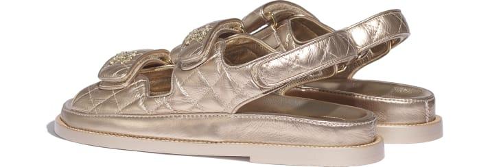 image 3 - Sandals - Iridescent Lambskin - Light Bronze