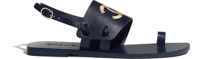image 1 - Sandals - Goatskin - Navy Blue