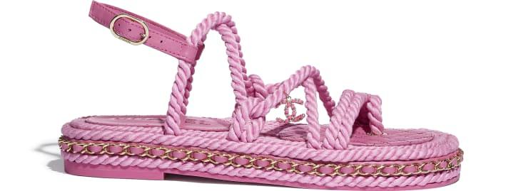 image 1 - サンダル - コード - ピンク