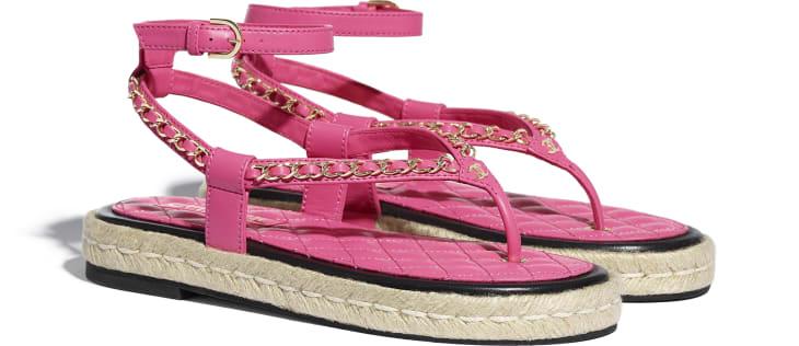 image 2 - Sandals - Lambskin - Pink