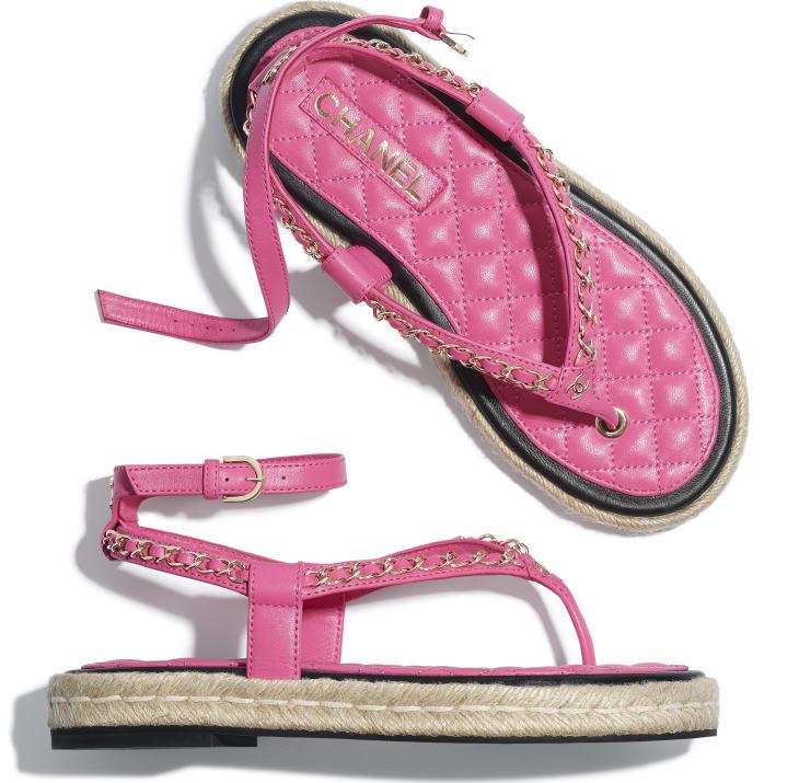 image 4 - 샌들 - 램스킨 - 핑크