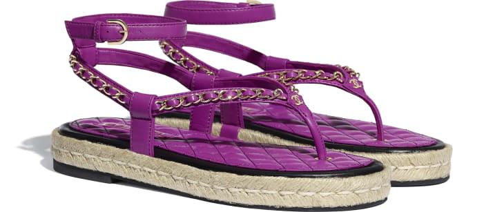 image 2 - Sandals - Lambskin - Purple