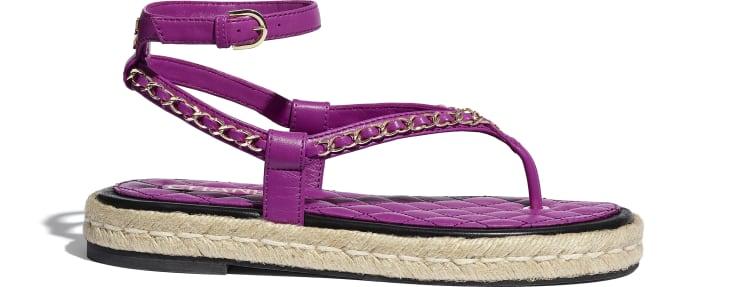 image 1 - Sandals - Lambskin - Purple