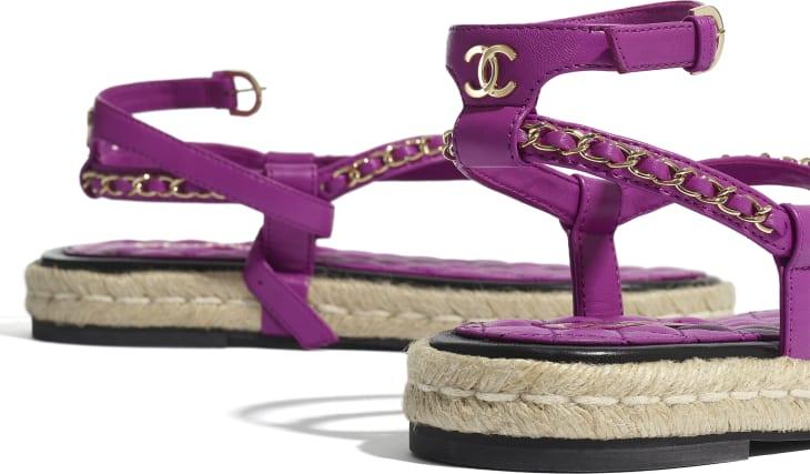 image 4 - Sandals - Lambskin - Purple