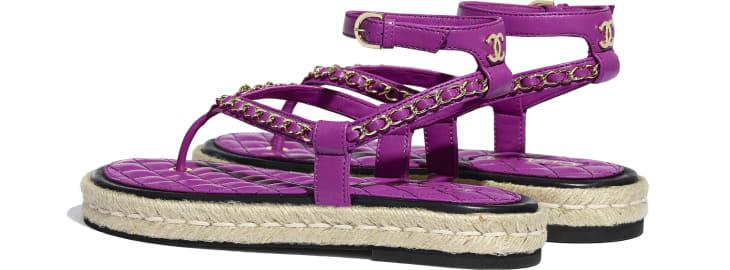 image 3 - Sandals - Lambskin - Purple