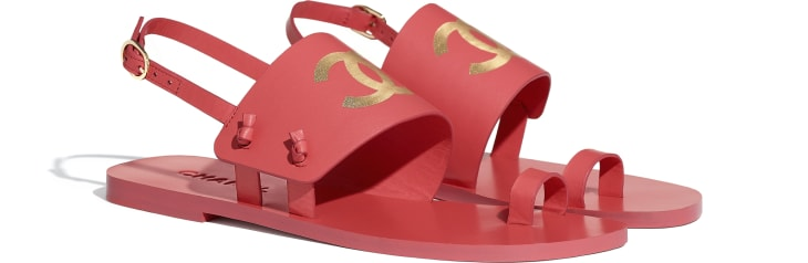 image 2 - Sandals - Goatskin - Red