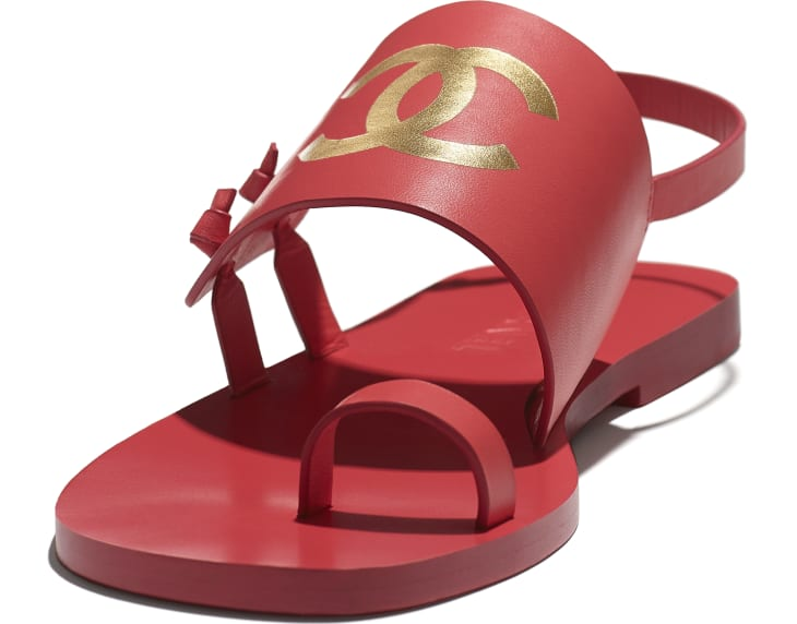 image 4 - Sandals - Goatskin - Red