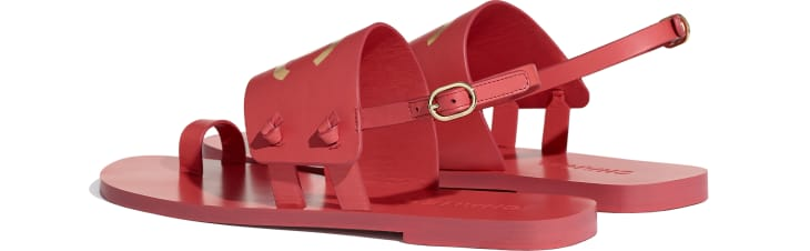 image 3 - Sandals - Goatskin - Red