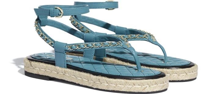 image 2 - Sandals - Lambskin - Turquoise