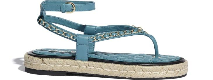 image 1 - Sandals - Lambskin - Turquoise