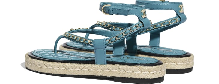 image 3 - Sandals - Lambskin - Turquoise