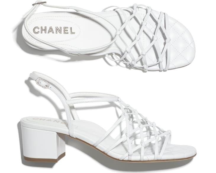 image 4 - Sandals - Lambskin - White