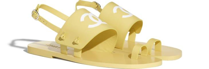image 2 - Sandals - Goatskin - Yellow