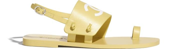 image 1 - Sandals - Goatskin - Yellow