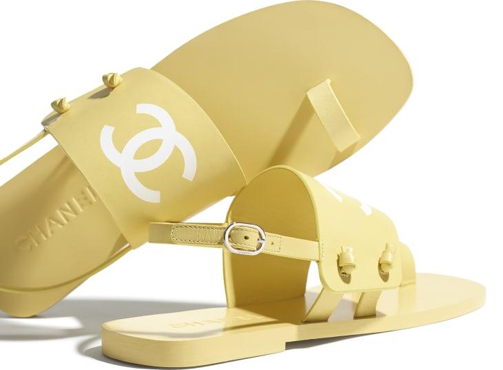 image 4 - Sandals - Goatskin - Yellow