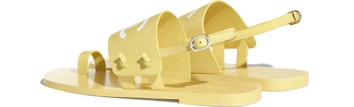 image 3 - Sandals - Goatskin - Yellow