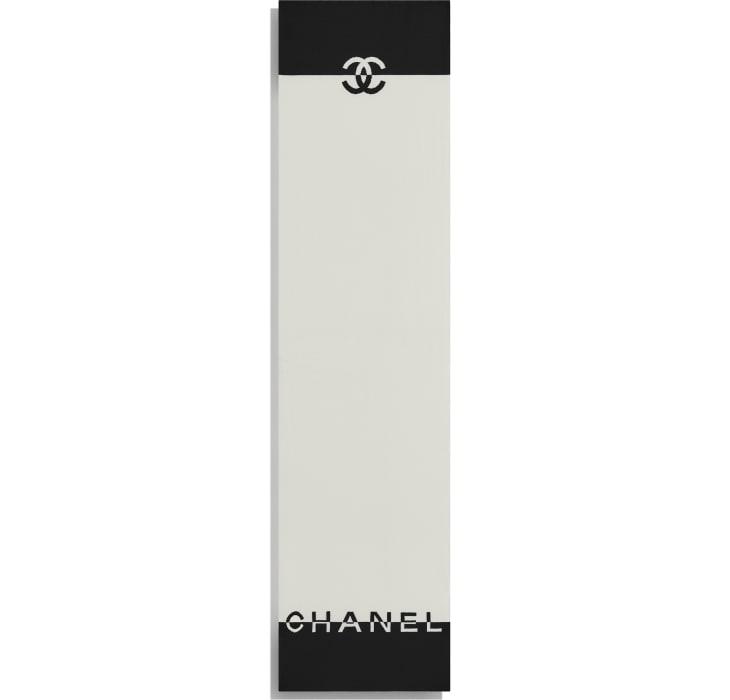 image 3 - スカーフ - カシミヤ - ブラック & ホワイト