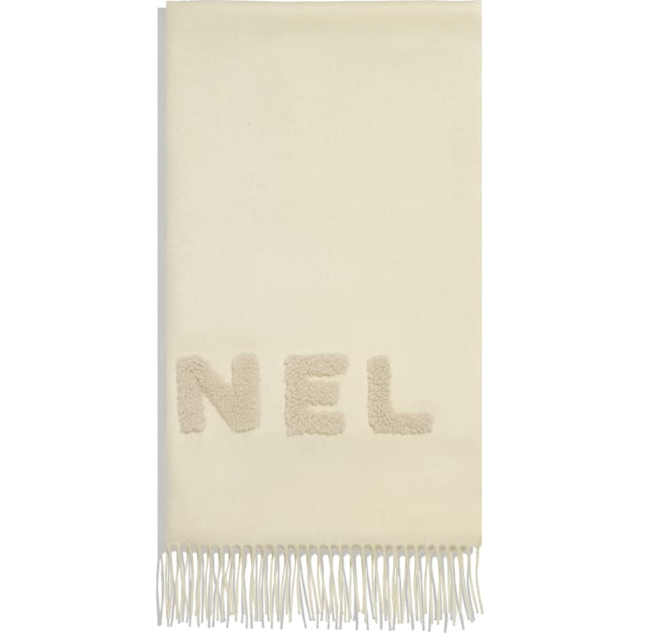 image 2 - Scarf - Cashmere & Shearling - White