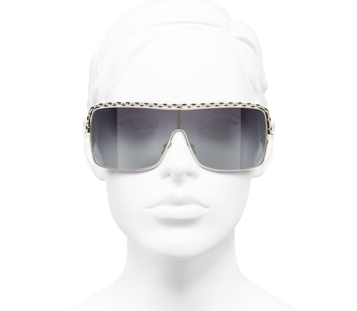 image 5 - 쉴드 선글라스 - 메탈, 램스킨 - 골드