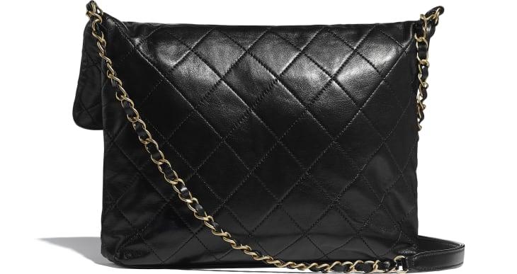 image 2 - ショッピング バッグ - カーフスキン & クリスタル パール - ブラック