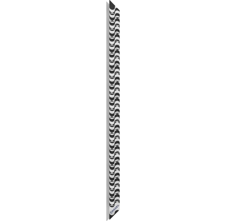 image 2 - ヘアバンド - シルク ツイル - ブラック & ブルー