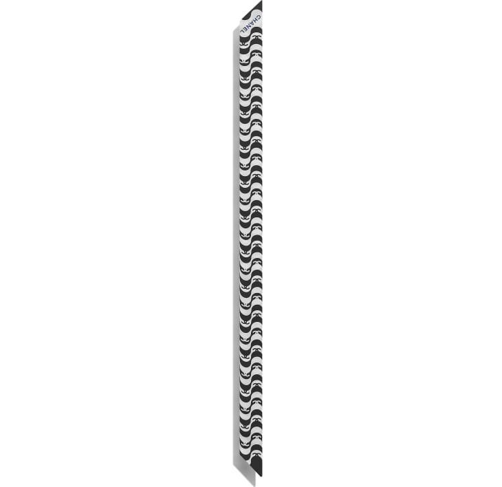 image 3 - ヘアバンド - シルク ツイル - ブラック & ブルー