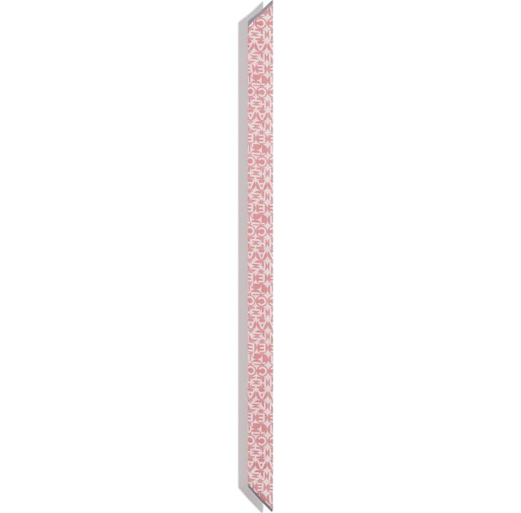 image 3 - Slim Bandeau - Silk Twill - Pink & Gray