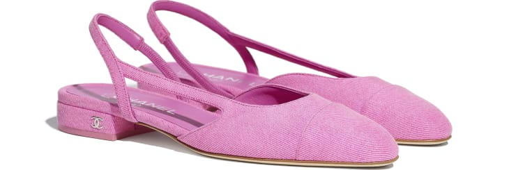 image 2 - Slingbacks - Denim - Neon Pink