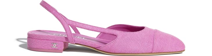 image 1 - Slingbacks - Denim - Neon Pink