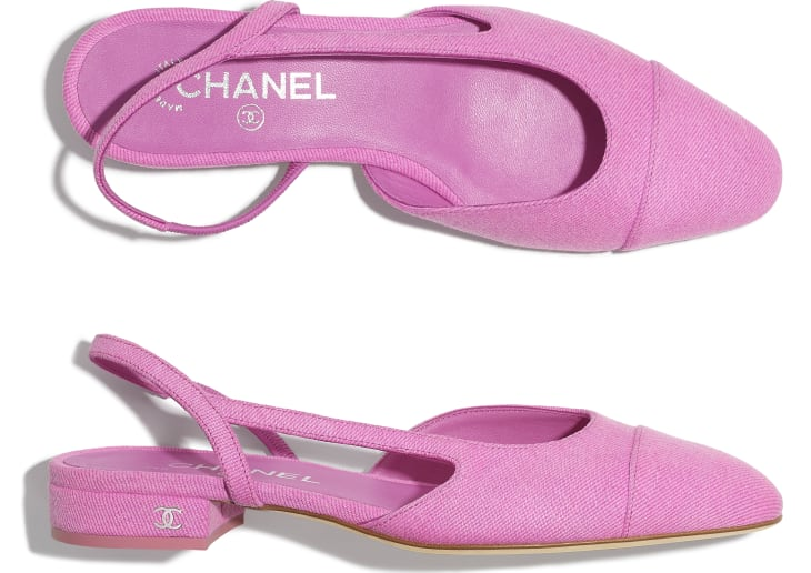 image 4 - Slingbacks - Denim - Neon Pink