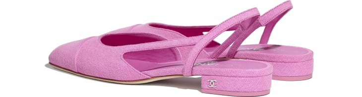 image 3 - Slingbacks - Denim - Neon Pink