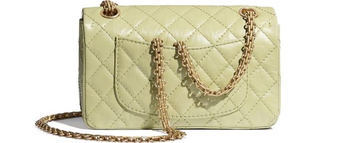 image 2 - Small 2.55 Handbag - Aged Calfskin & Gold-Tone Metal - Green