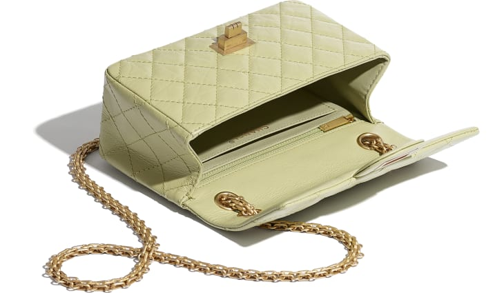 image 3 - Small 2.55 Handbag - Aged Calfskin & Gold-Tone Metal - Green