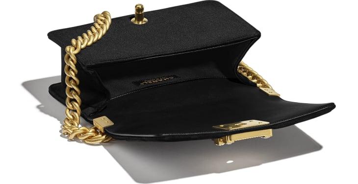 image 3 - Bolsa BOY CHANEL Pequena - Veludo & Metal Dourado - Preto