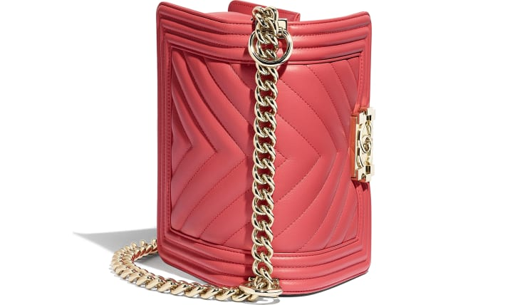 image 3 - Small BOY CHANEL Handbag - Calfskin & Gold-Tone Metal - Pink